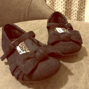 SmartFit Black Faux Suede Toddler Ballet Flats